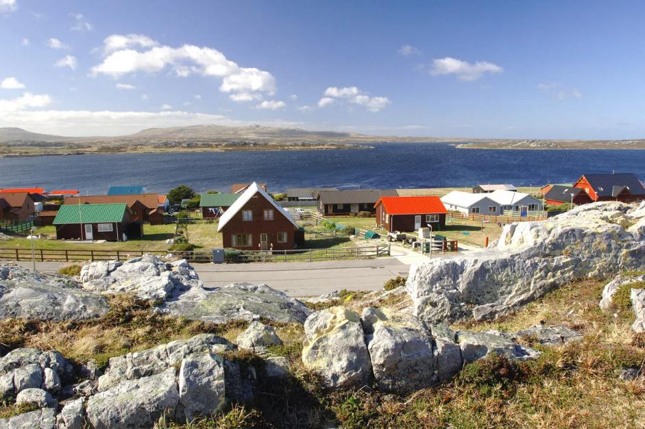 Falkland islands map , South America - Detailed map of Falkland islands