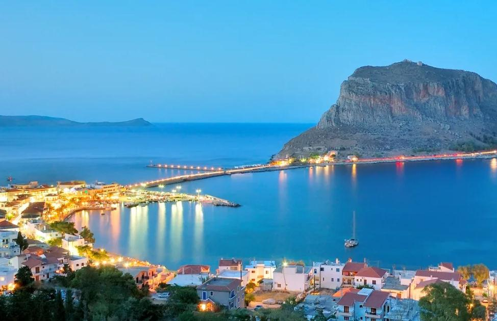 Monemvasia map GREECE - Detailed map of Monemvasia