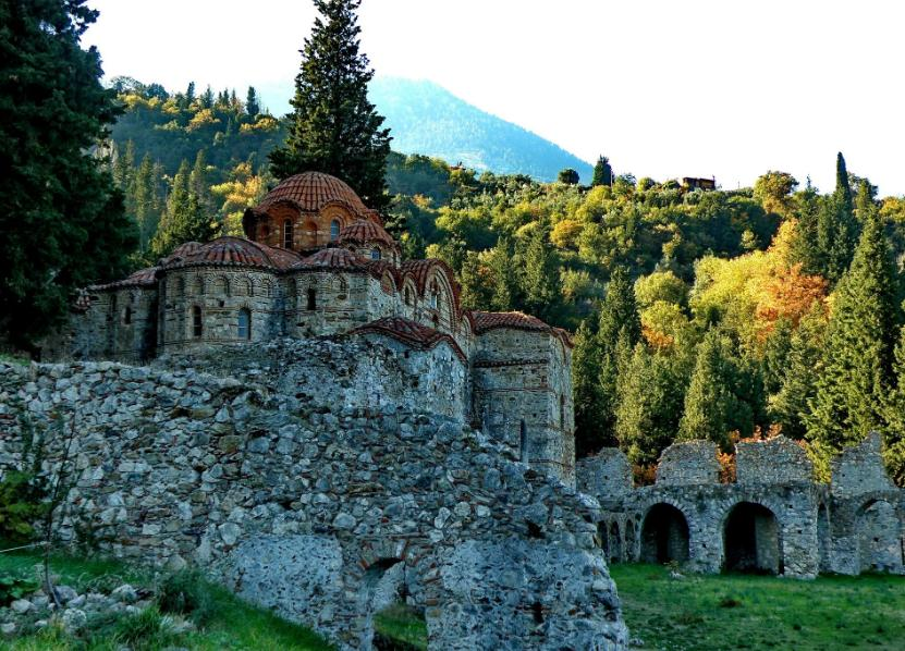 Mystras map GREECE - Detailed map of Mystras