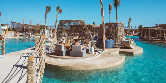 The biggest beachfront pool in Europe opened on Mykonos