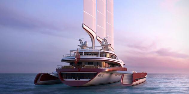 Superyacht Adastra, docked in Mykonos