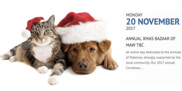 Christmas bazaar for the animals